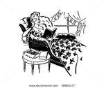 stock-vector-relaxing-with-a-good-book-retro-clip-art-58684477