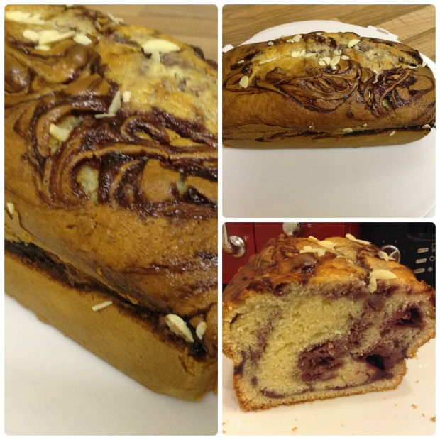 Blackberry swirl yogurt loaf